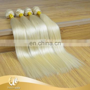 Alibaba finest quality blonde color russian remy virgin bulk hair weave straight wave