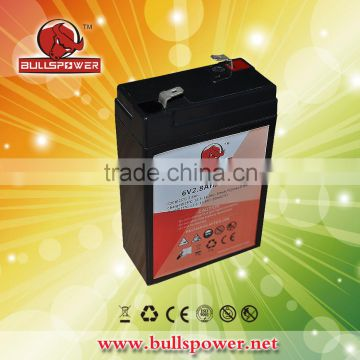 Lead acid battery 6v 2.8ah locomotive battery for Emergency/Security systems