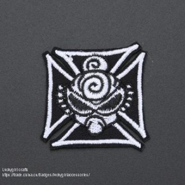 China manufacture factory customize Woven embroidery emblem badge
