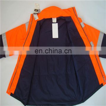 Orange MEN Jackets Polar Fleece Reflective Safety Jacket