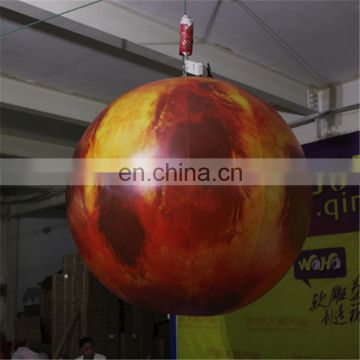 2017 new design outdoor advertising giant inflatable moon balloon with led light for event&party