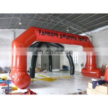 2015 new style red color inflatable arch with logo digital printing