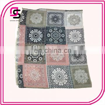 2017 New Products Special flower pritend Ladies Muslim dress shawl scarf