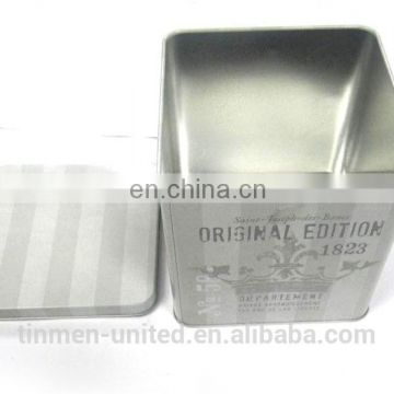 Hot sale square candy tin box,custom packaging metal tins for candy