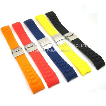 18 20 22 24 26mm Tire Texture Silicone Rubber Watch Band Duty Strap TAG