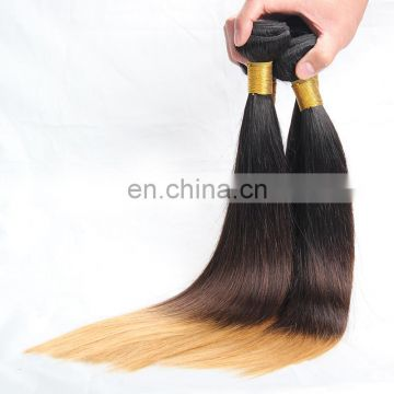 8A Remy Malaysian hair weave bundles ombre hair extensions 1b 4 613 silky straight top quality
