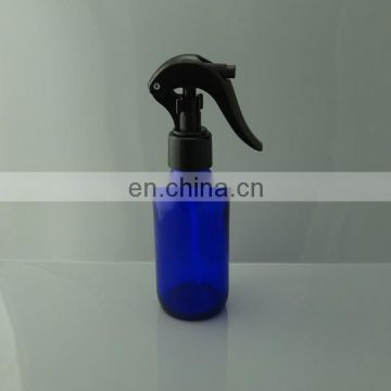 4oz pack of 6pcs neck 24mm Cobalt blue boston round Glass Bottle with Mini Trigger Spray