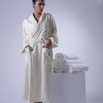 Eliya Luxury 5 stars hotel soft and smoothly silk bath robe