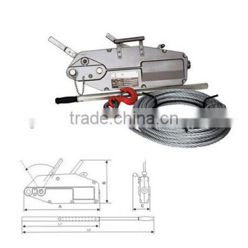wire rope winch 0.8ton tirfor hand winches