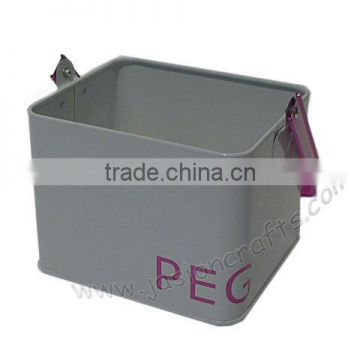 Top sale Laundry box metal Pegs Bucket