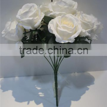 brand name artificial flowers fabric bundled 9 heads roses