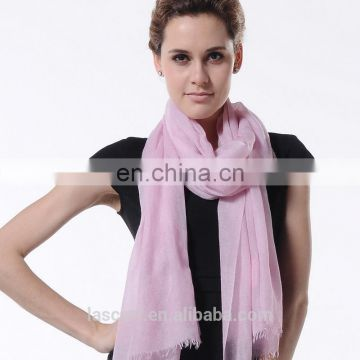 Fashion accessories light pink cashmere wrap lady scarf