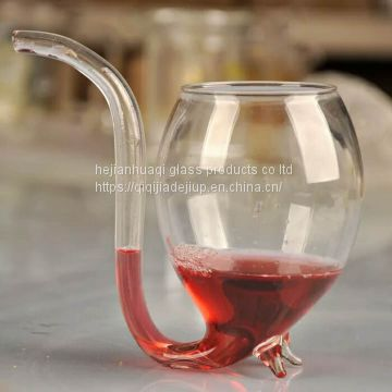 Squirrel glass decanter /squirrel wine cup/glass squirrel cup