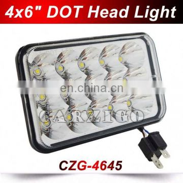 DOT CZG-4645 long warranty 6X4inch 45w LED head lamp from Carzigo factory