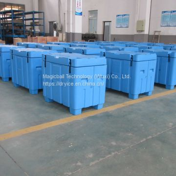 dry ice pellet container/plastic container 25kg/industrial box