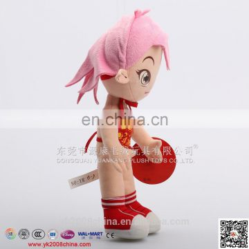 Lovely customized plush cloth rag doll undressed