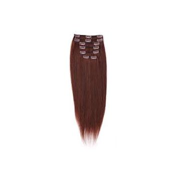 20 Inches Synthetic For White Women Hair Extensions Machine Weft