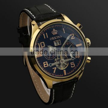 WM373 Skeleton Automatic Custom Logo Watch Rose Gold Stainless Steel Watches