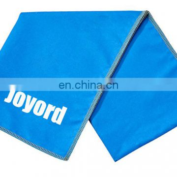 OEM personalized microfibre sports towel with custom logo