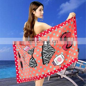2017 Wholesale Sublimation Printed Yoga Microfiber Towel