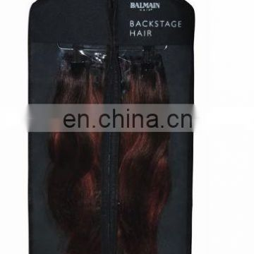 pvc hair extension bag with hanger