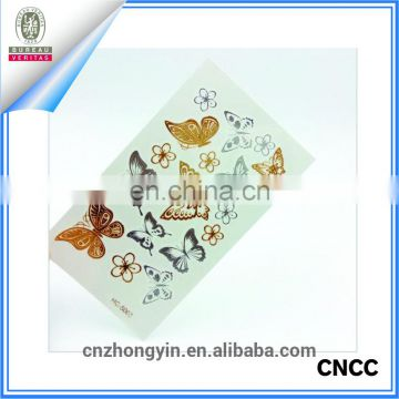 Waterproof gold body temporary tattoo sticker