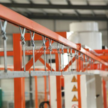 Powder coating system transport component