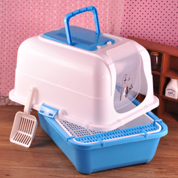 China factory colorful plastic  kitten litter tray with scoop