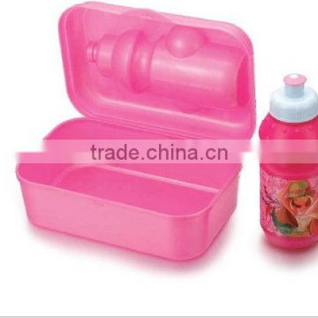 plastic lunch box with water bottle, sanwich boxes