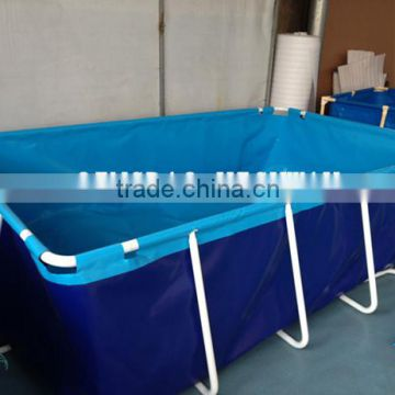 Collapsible square above ground pool 100m3, 200m3, 500m3 of PVC ...