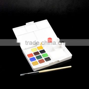 Wholesale popular non-toxic safe water color paint set solid watercolor cake paint with competitive price