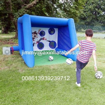 Popular Outdoor Inflatable Football Shoot Games, Backyard Inflatable Soccer Goal Game For Sale