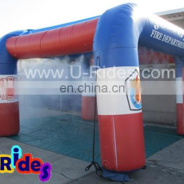 durable pvc tarpaulin inflatable misting station for clearing car