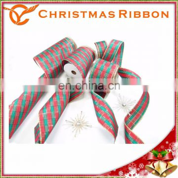 Featuring Bold Shades Of Red And Green In The Plaid Xmas Ribon