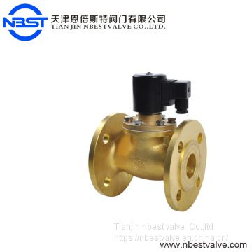 DN50 2-Way Normally Open Closes Flange Gas Solenoid Valve With Energized