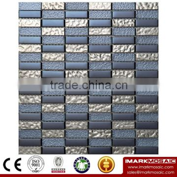 IMARK Crystal Glass Mosaic Tiles Mix Marble Mosaic Tiles(IXGM8-006) for Wall Decoration