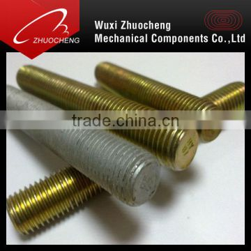 high tensile yellow zinc plated threaded rod astm a193 b7