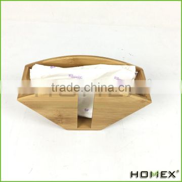 Bamboo filter paper holder coffee paper tray Homex-BSCI Factory