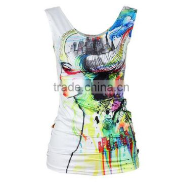 OEKOTEX-CERTIFICATE Factory Custom polyester microfiber dye sublimation sleeveless shirt