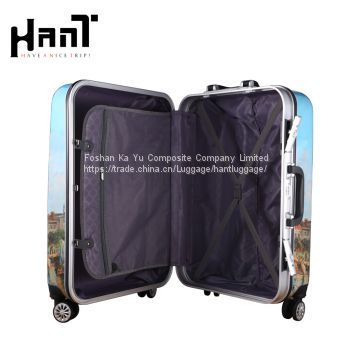 ABS Patterned Luggage With Four Wheels