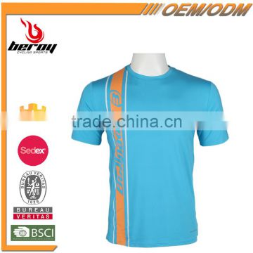 Breathable and Quick-dry Mens Fitness T-shirt with Face Print gor Wholesale