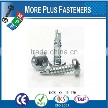 Made In Taiwan Cross Recessed Pan Head Self Drilling Screw Phil Recess Pan Head Self Drilling Screw