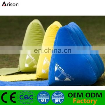 High quality flocking wedge inflatable backrest inflatable beach backrest pillow inflatable wedge pillow
