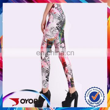2017 fashion design High quality compression embroidery leggings