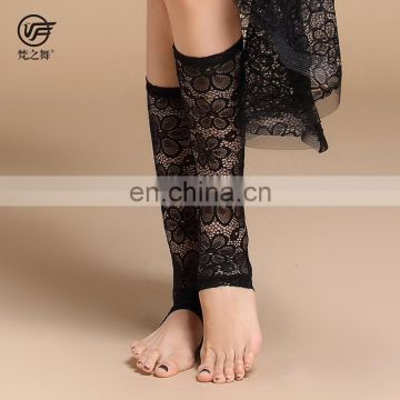 P-9108 Wholesale professional belly dance lace boot socks