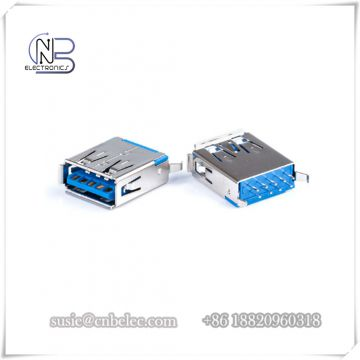 Flameproof 180 D DIP 9 pins usb solder type A female 3.0 USB Connectors for digital products