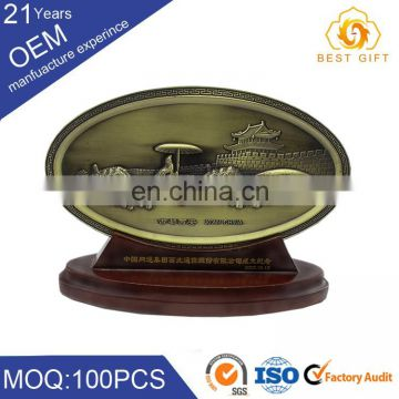 Gold plating brass custom nameplate printing machine for metal plate