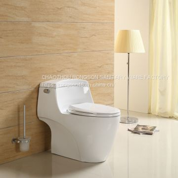 China wc chaozhou supplier ceramics bathroom one piece egg shape round big white siphonic floor mounted toilet bowl