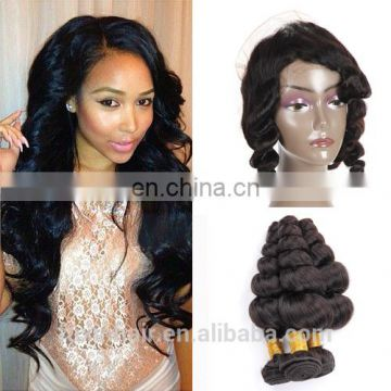 Factory direct sales human hair curly 360 lace frontal free part 360 lace frontal wig for black women