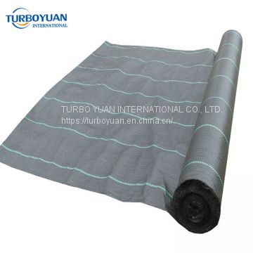 woven mulching netting PE / PP weed barrier cloth mat